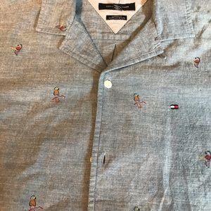 Brand New Men's Tommy Hilfiger Short Sleeve Shirt